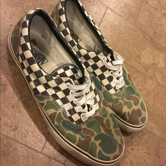 2bda55478aa32 Vans Shoes | Era Camo Checker Board Size 12 Van Doren | Poshmark